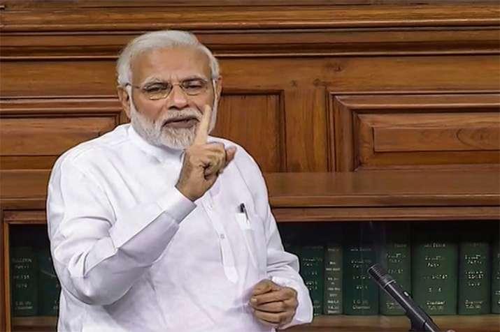 pm modi speech on no confidence motion- India TV