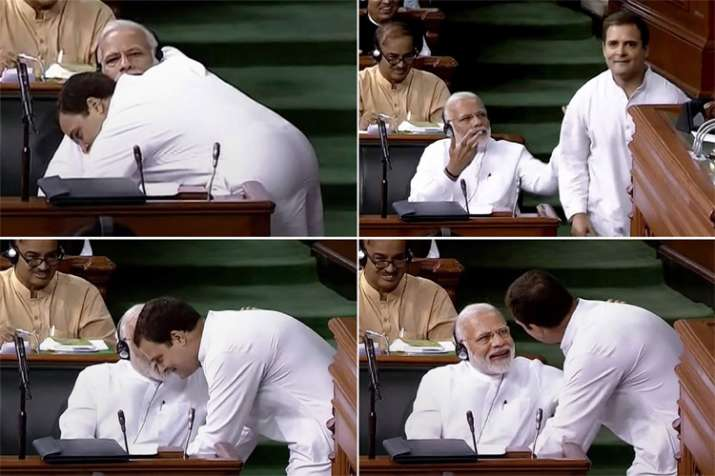 Rahul Gandhi hugged PM Modi on directions of a Tantrik, Congress habitual follower of Tantriks: BJP - India TV