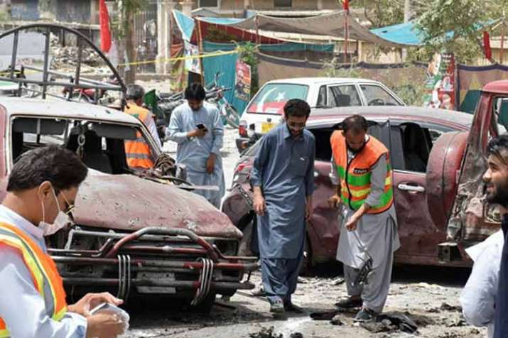 Nearly 37 people died in violence and suicide attacks...- India TV