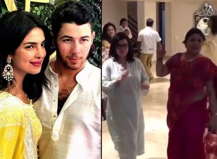 Priyanka Chopra and Nick Jonas mothers dance- India TV