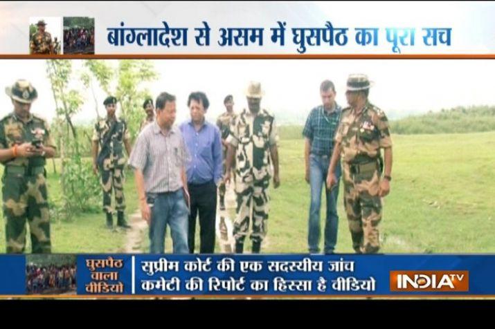 भारत-बांग्लादेश बॉर्डर पर देशविरोधी करतूत, घुसपैठियों के घुसने का EXCLUSIVE वीडियो- India TV