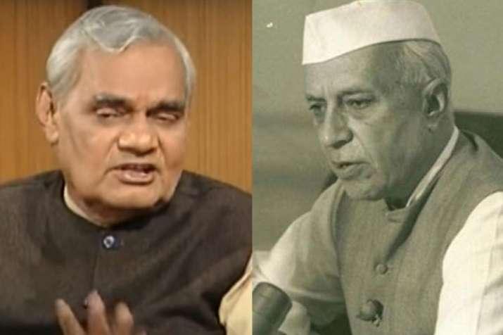Atal Bihari Vajpayee and Jawahar Lal Nehru | PTI- India TV