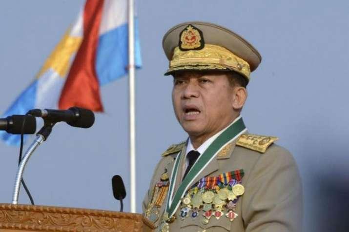Myanmar's Commander-in-chief Senior Gen. Min Aung Hlaing | AP- India TV