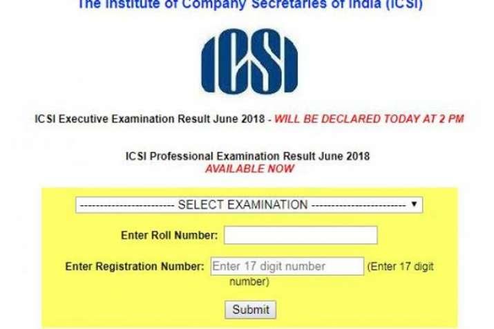 ICSI CS result 2018 Professional programme results- India TV