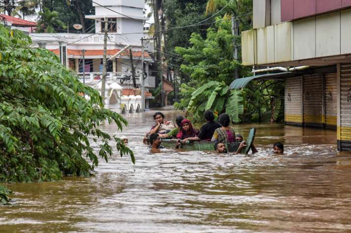 People being rescued from a flood-affected region...- India TV