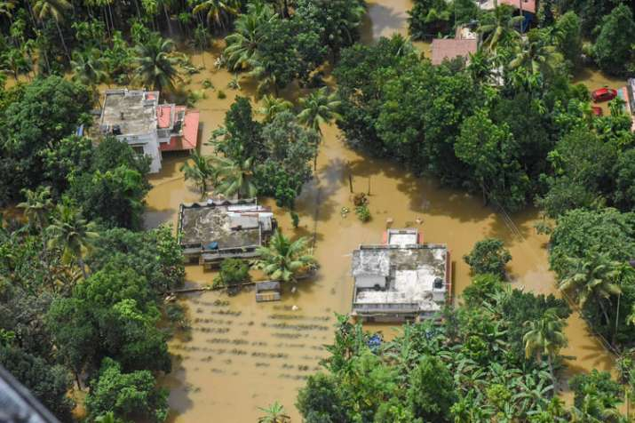 A view of the flood affected areas, in Kochi- India TV