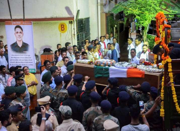 The mortal remains of Major Kaustubh Prakashkumar Rane,...- India TV