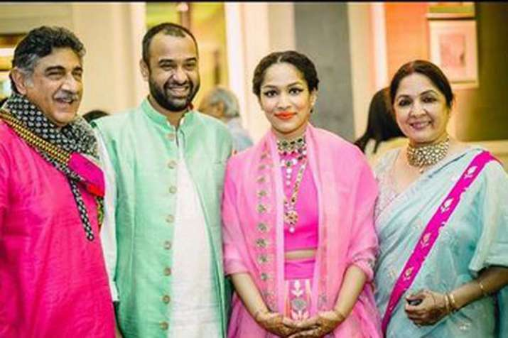 Masaba Gupta with husband Madhu Mantena and mother Neena Gupta- India TV