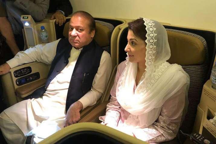 Nawaz Sharif and his daughter Maryam Nawaz- India TV