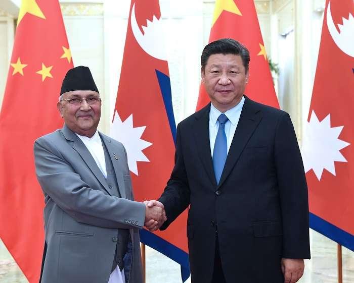 Nepal Prime Minister K.P. Sharma Oli with Xi Jiping- India TV Paisa