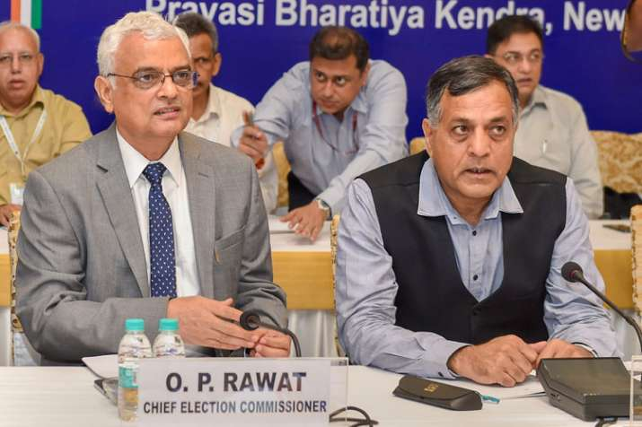 Chief Election Commissioner O P Rawat and Election...- India TV