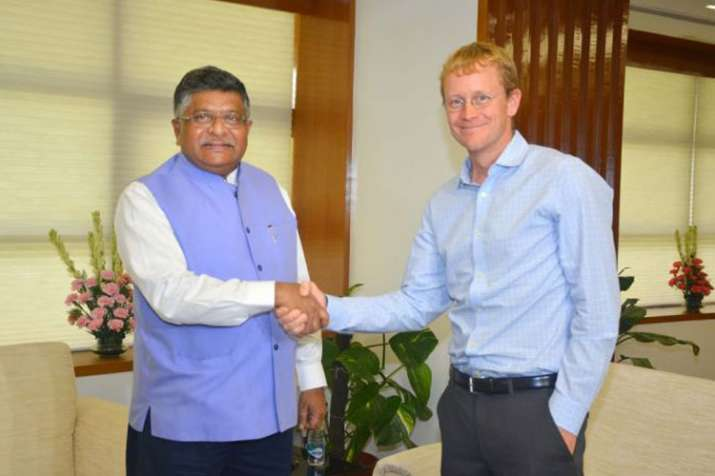 Union IT Minister Ravi Shankar Prasad and WhatsApp CEO...- India TV