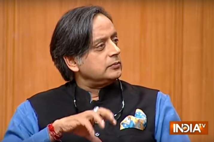shashi tharoor in aap ki adalat- India TV