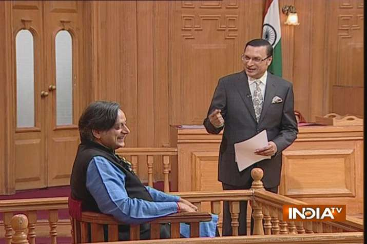 Shashi Tharoor in Aap ki adalat- India TV