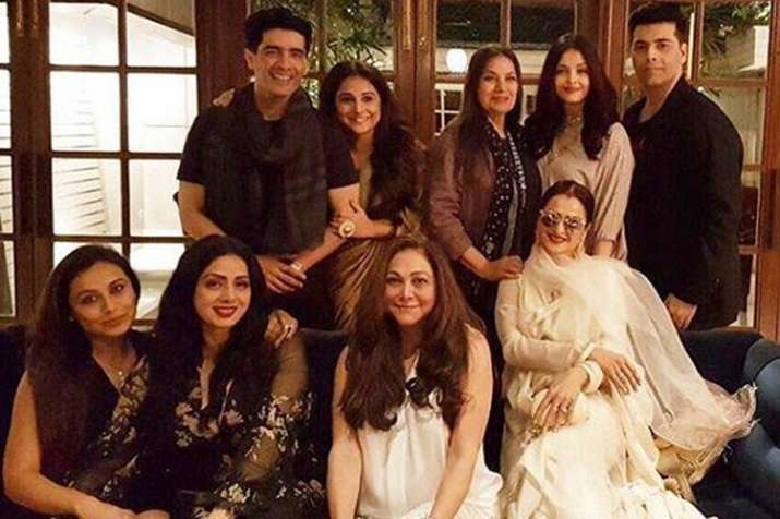 Sridevi with friends- India TV