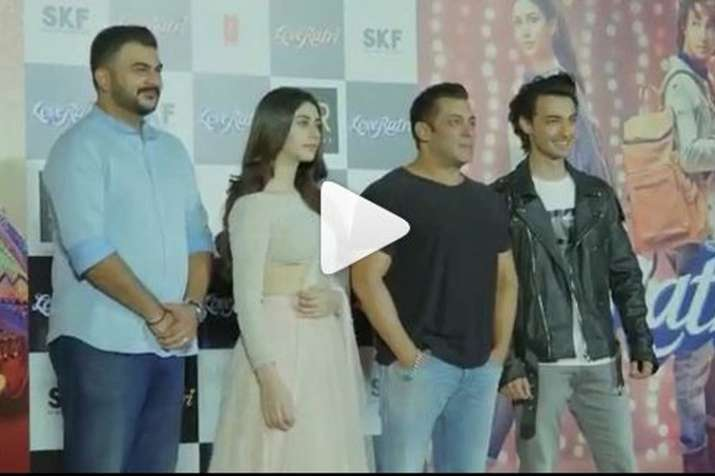 Loveratri Trailer Launch- India TV