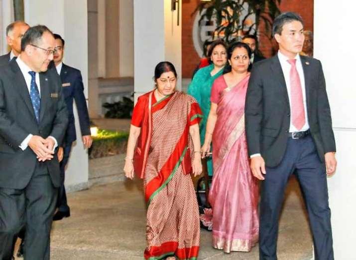 Sushma Swaraj arrives in Vietnam to deepen bilateral...- India TV