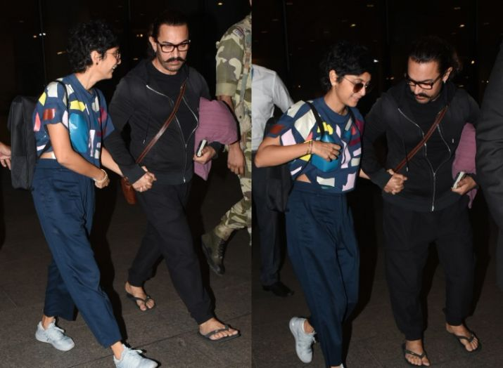 Kiran Rao slips at airport while walking hand-in-hand with Aamir Khan- India TV