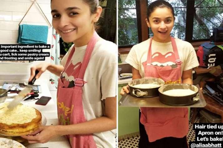 Alia Bhatt baked cake for Ranbir Kapoor- India TV