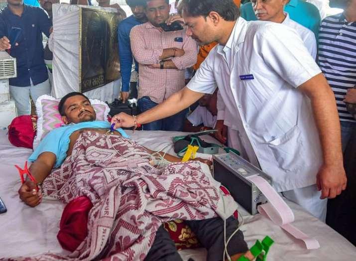 भूख हड़ताल के नौवें...- India TV