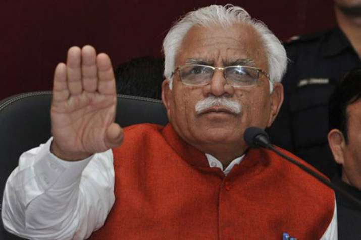 Haryana CM Manohar Lal khattar- India TV
