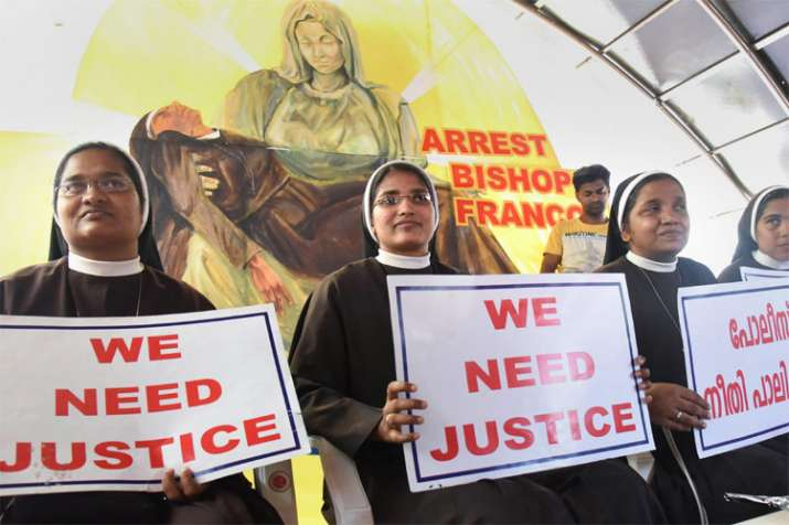 Kerala nun rape case: 'Will not rest' till bishop Franco Mulakkal is arrested, say protesting nuns- India TV