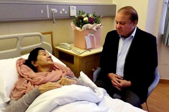 Nawaz Sharif, Maryam Nawaz to get parole for Begum Kulsoom funeral   Twitter- India TV