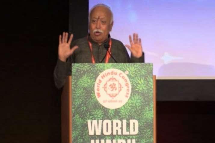 भागवत ने हिन्दुओं से एकजुट होने, बेहतर समाज की स्थापना के लिए काम करने को कहा- India TV