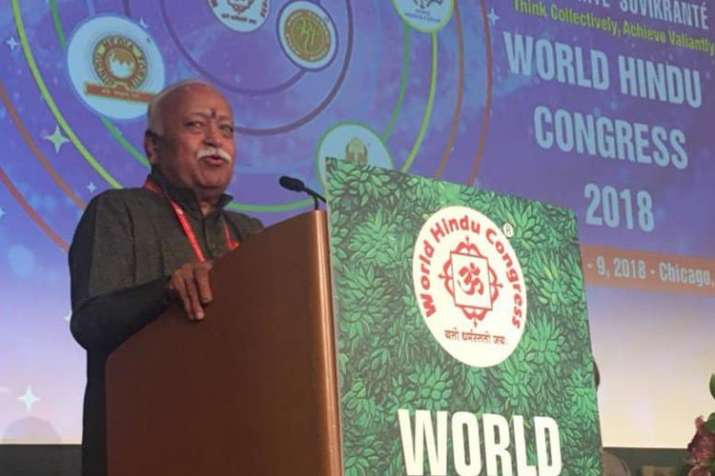 Hindus have no aspiration of dominance, says Mohan Bhagwat in World Hindu Congress | Facebook- India TV