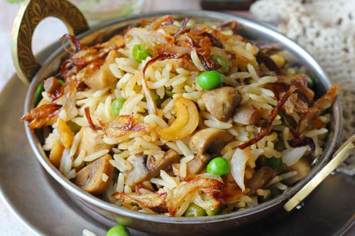 mushroom matar pulao- India TV
