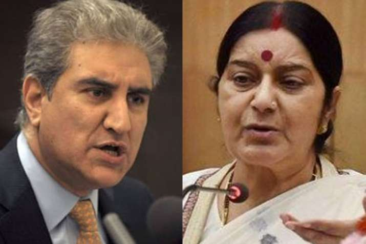 Shah Mehmood Qureshi and Sushma Swaraj | File Pic- India TV