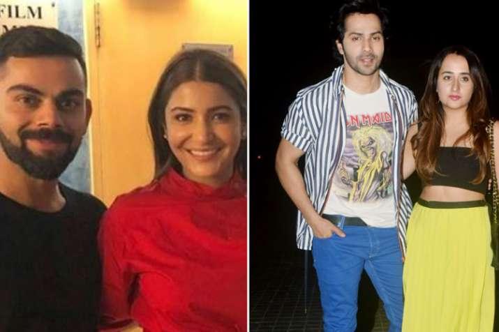 Virat Kohli Anushka Sharma, Varun Dhawan, Natasha Dalal- India TV