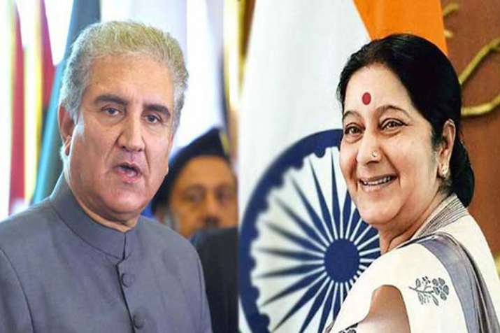 सुषमा स्वराज ने पाकिस्तान के विदेश मंत्री को किया नजरअंदाज, मीटिंग के बीच में उठकर निकलीं बाहर- India TV