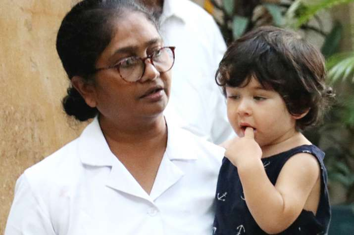 Taimur Ali Khan with his Nanny- India TV