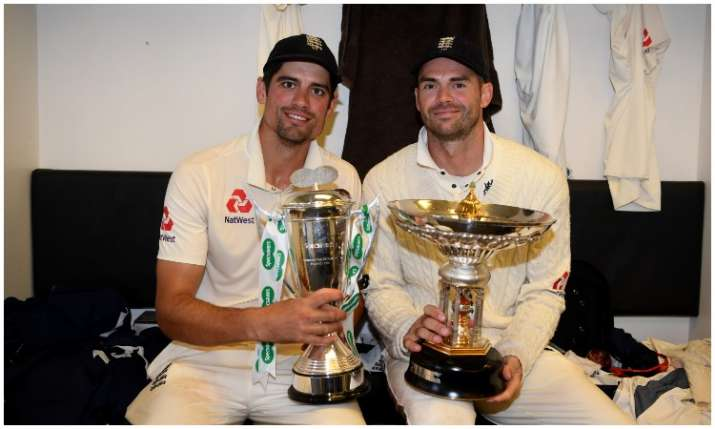 Alastair Cook and James Anderson- India TV