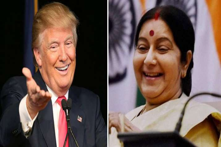 donald trump and sushma swaraj- India TV