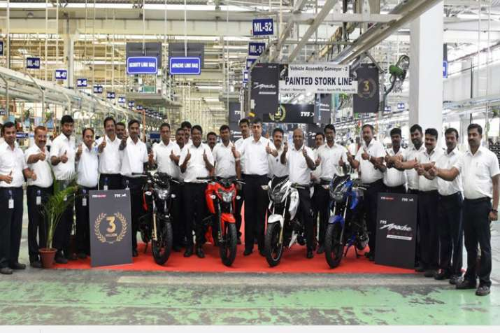 TVS Apache crosses 3 million sales milestone- IndiaTV Paisa