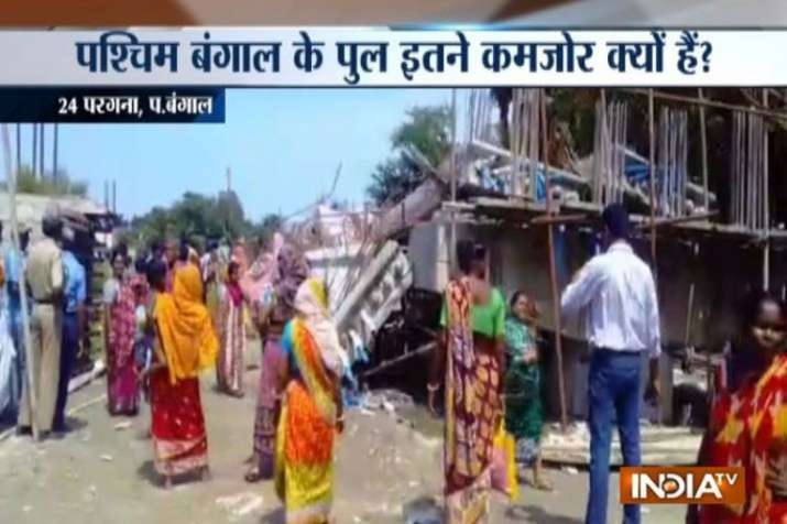 Under-construction bridge collapses in South 24 Parganas of West Bengal- India TV