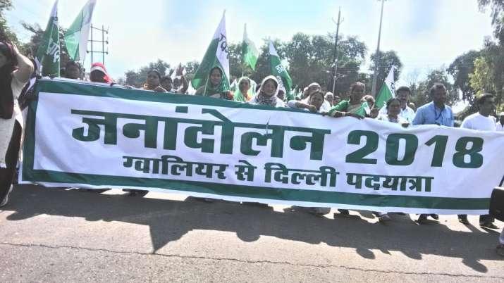 किसानों के बाद भूमिहीन सत्याग्रही करेंगे दिल्ली मार्च, ग्वालियर से चला जुलूस; मुरैना में राहुल-सिंधि- India TV