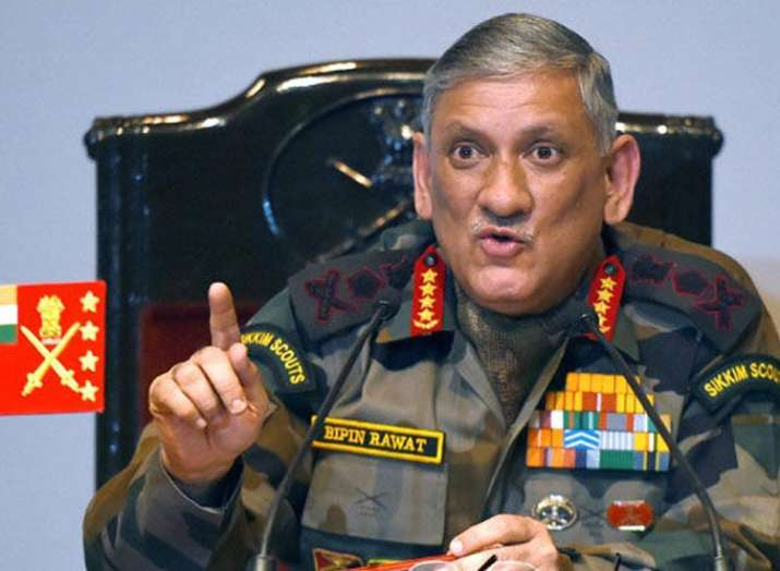 Strict action should be taken against stone pelters: Army Chief Bipin Rawat- India TV