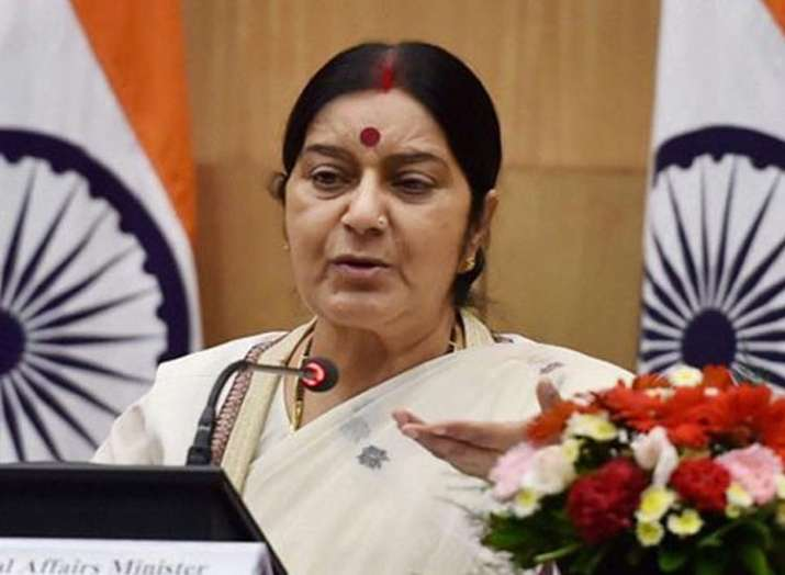 EAM Sushma Swaraj arrives at Qatar's Doha. She is on a four-day visit to the Gulf countries of Qatar- India TV