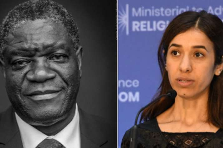 Denis Mukwege and Nadia Murad win 2018 Nobel peace prize | Photo Nobel- India TV