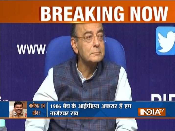 Finance Minister Arun Jaitley Statement on CBI crises- India TV