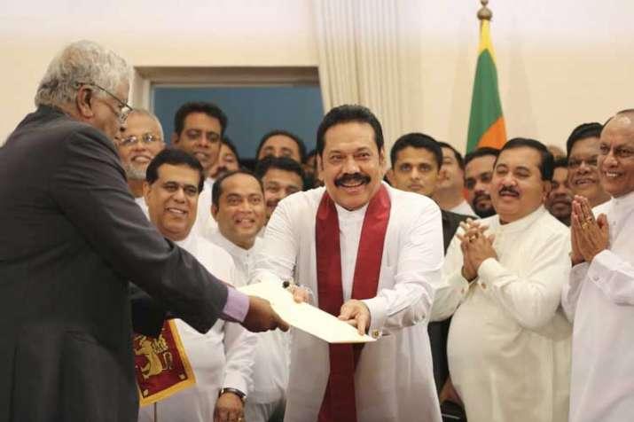 Sri Lanka's newly appointed prime minister Mahinda...- India TV