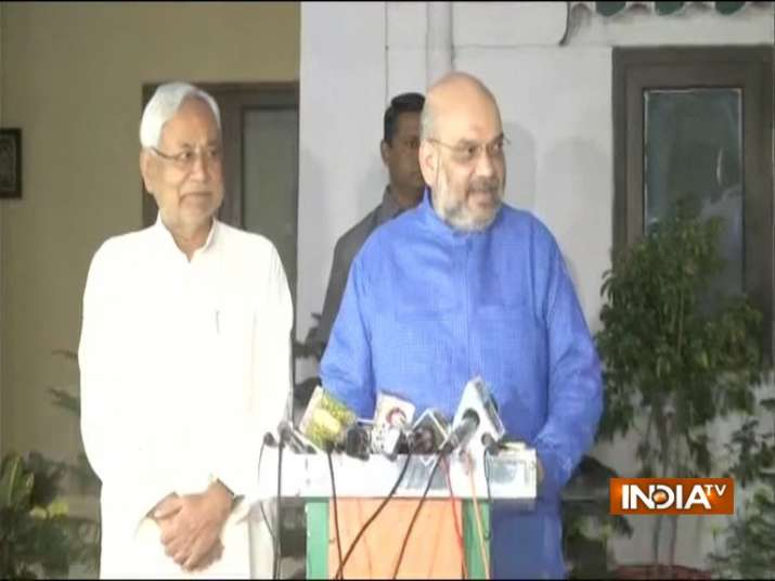 Seat sharing finalized between BJP and JDU in Bihar for 2019 General Elections- India TV