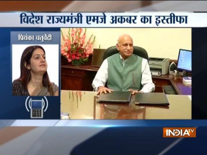 Congress statement on M J Akbar Resignation- India TV