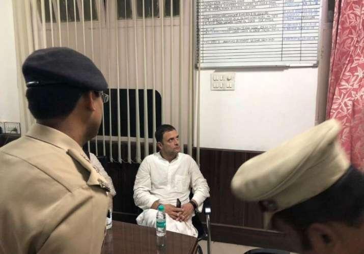 Rahul Gandhi at Police Station- India TV