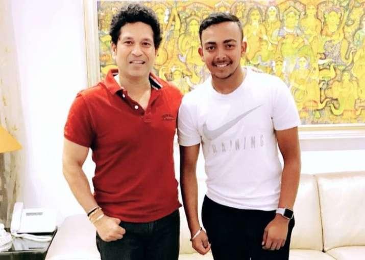 Sachin tesndulkar and prithvi shaw- India TV