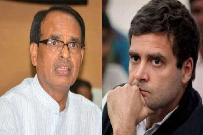 राहुल गांधी के आरोप पर भड़के शिवराज, करेंगे मानहानि का दावा- India TV