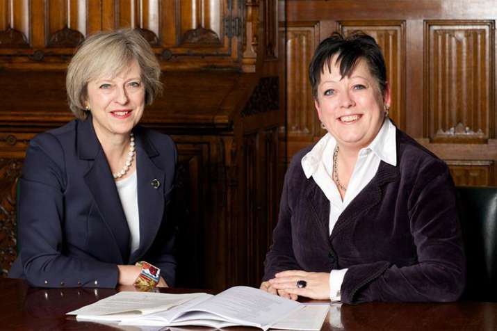 Theresa May and Jackie Doyle-Price   Facebook- India TV